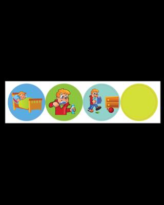 Kinderplanborden Belonen onderwerp 1 - jongen