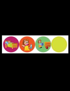 Kinderplanborden Belonen onderwerp 1 - meisje