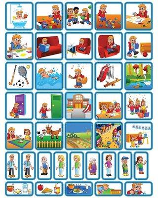 Zonneroosje Dagsetje - 39 pictogrammen (jongen)
