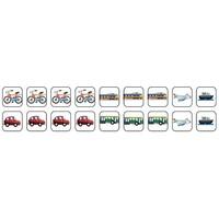 Vervoer - 18 pictogrammen