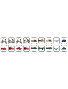 Zonneroosje Vervoer - 18 pictogrammen