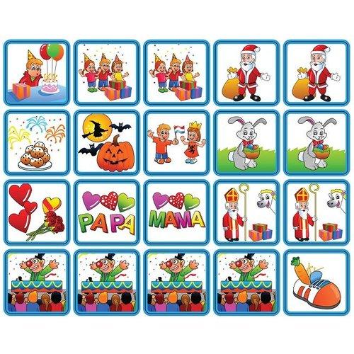 Zonneroosje Feestdagen - 20 pictogrammen (jongen)