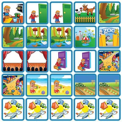 Zonneroosje Recreatie & Uitjes - 25 pictogrammen (jongen)