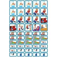 Verzorging & Slapen - 50 pictogrammen (jongen)