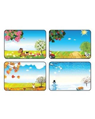 Kinderplanborden Seizoenen - 4 pictogrammen