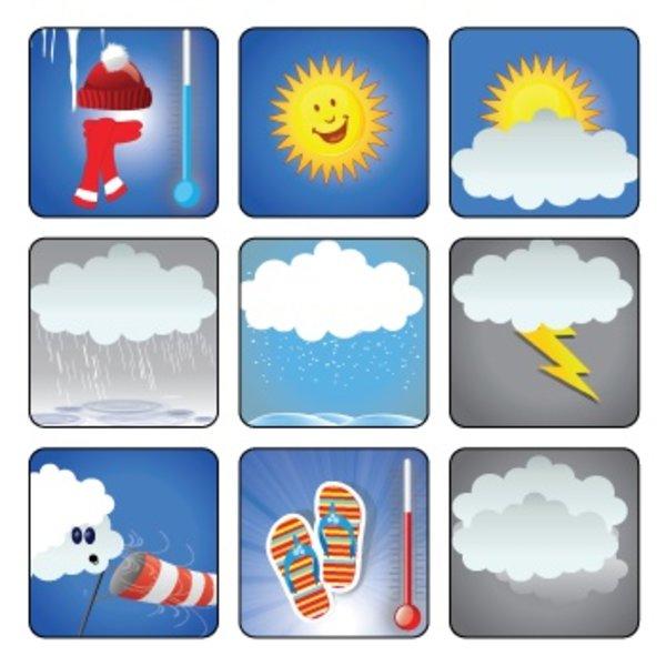 Kinderplanborden Weer - 9 pictogrammen