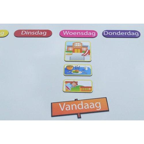 Kinderplanborden Dagen van de week - 8 magneetjes