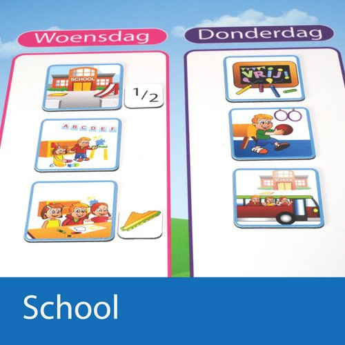 Zonneroosje School - 31 pictogrammen (jongen)