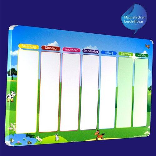 Kinderplanborden Planpakket Weide - groot (jongen)