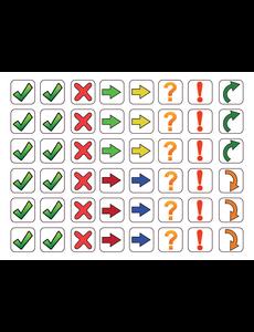 Kinderplanborden Symbolen