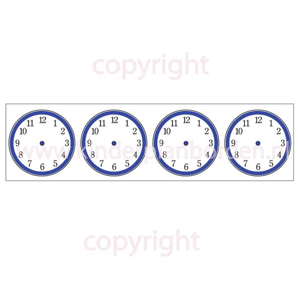 Kinderplanborden tijdsklokjes - blanco