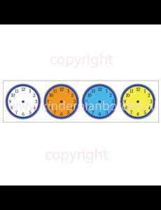 Kinderplanborden Klokjes - kleur