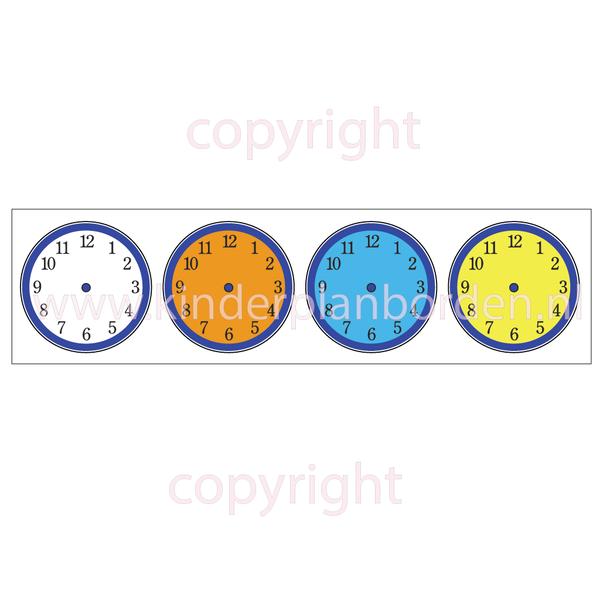 Kinderplanborden Tijdsklokjes - kleur