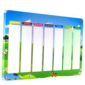 Planbord Weide - Een leuke weekplanner voor uw kind