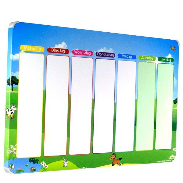 Kinderplanborden Planbord Weide - Een leuke weekplanner voor uw kind