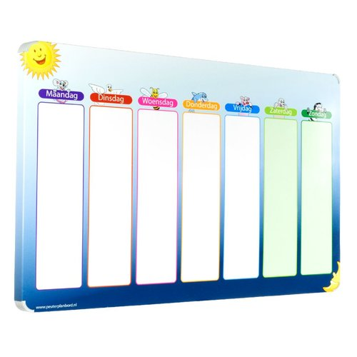 Kinderplanborden Planbord Blauwe Ster
