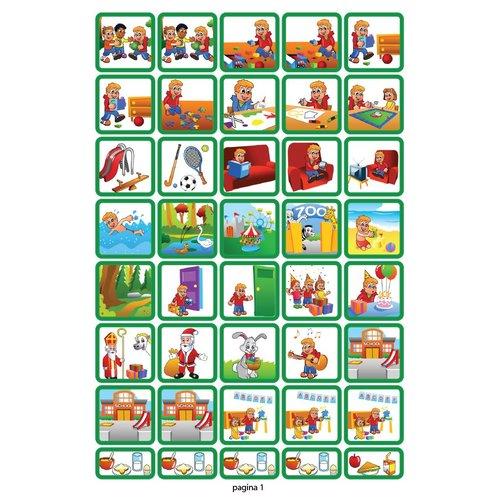 Zonneroosje startset jongen - 68 pictogrammen