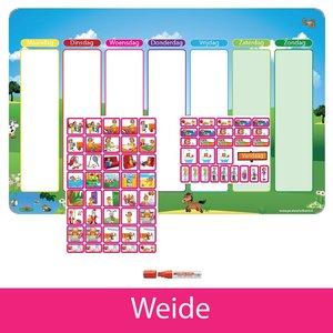 Kinderplanborden Planpakket Weide - (meisje)