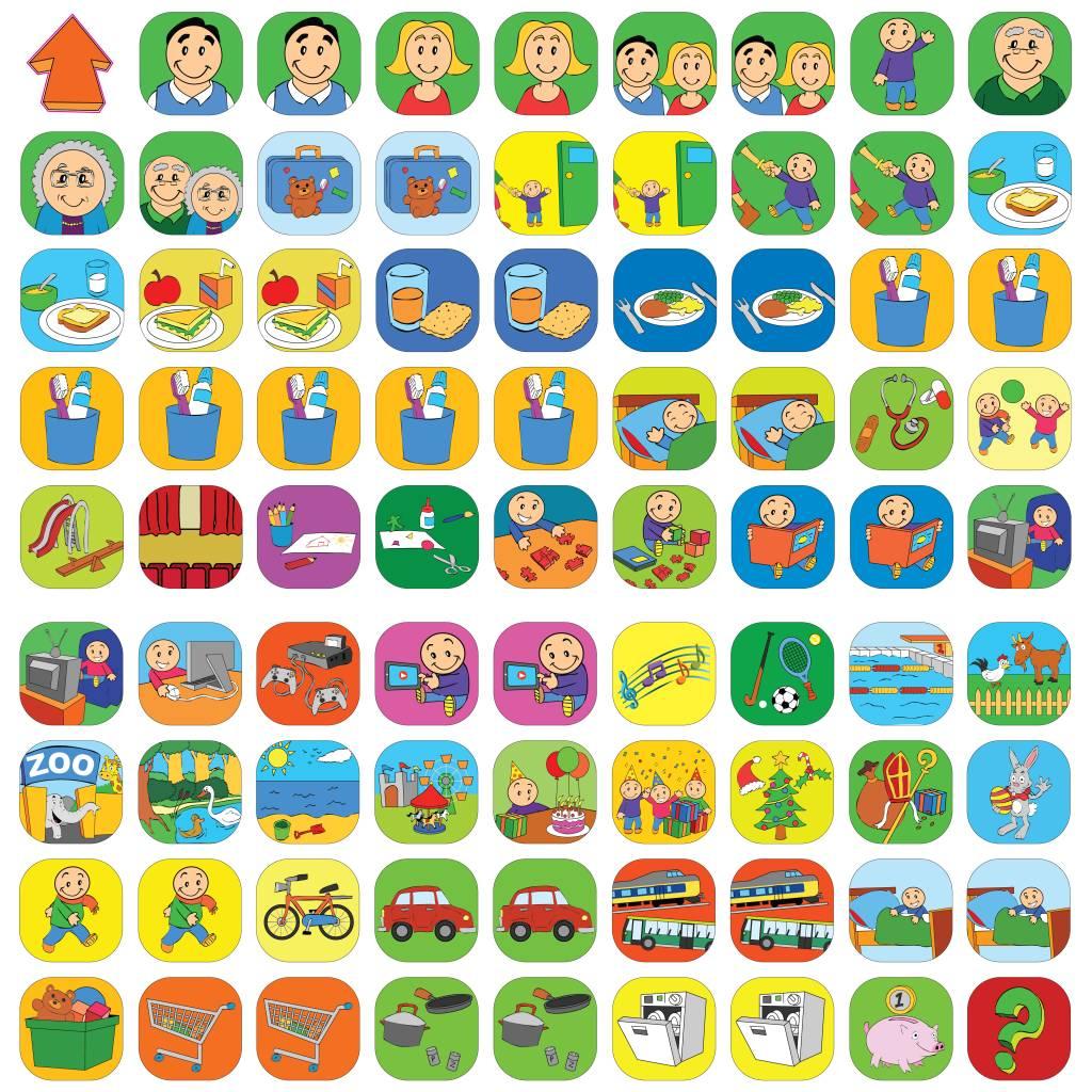 Beste Uitbreidingsset met 81 magnetische pictogrammen - kinderplanborden.nl PJ-32