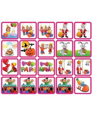 Zonneroosje Feestdagen - 20 pictogrammen (meisje)