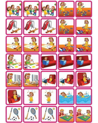 Zonneroosje Spel & Ontspanning - 35 pictogrammen (meisje)
