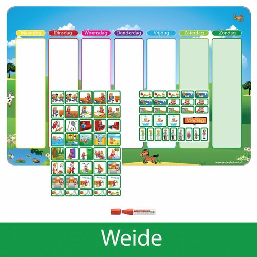 Kinderplanborden Planpakket Weide - (jongen)