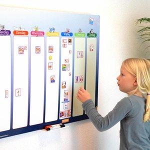 Kinderplanborden Planbord Blauwe Ster - Extra groot