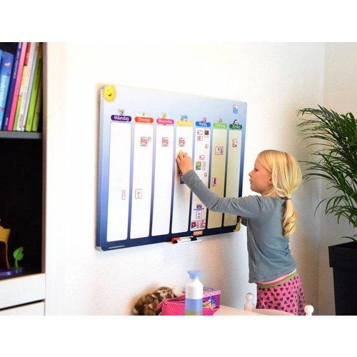 Kinderplanborden Een groot en overzichtelijk planbord voor uw kind(eren)