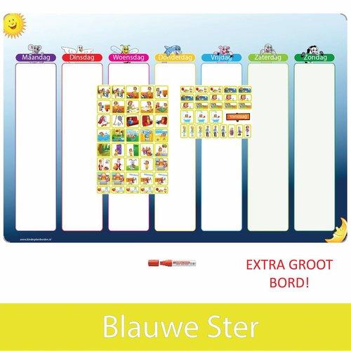 Kinderplanborden Planpakket Blauwe Ster - (meisje)