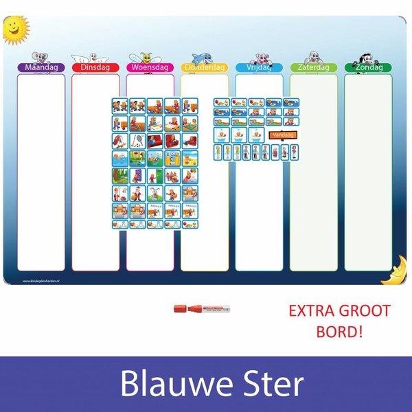Kinderplanborden Planpakket Blauwe Ster - (jongen)