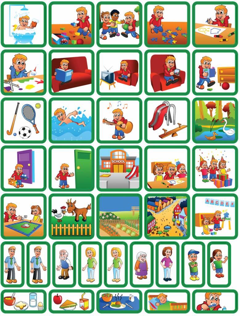 Wonderbaarlijk Dagsetje pictogrammen jongen - 39 magneetjes voor je planbord RR-29