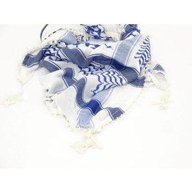 Sjaal Heren  Cobalt Blauw/Wit