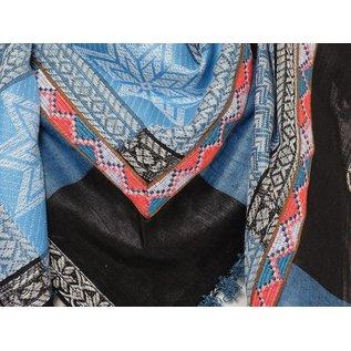 Sjaal dunks Turquoise met indiaan band