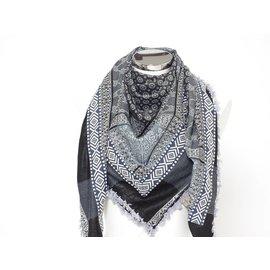 Sjaal Grijs-blauw / zwart