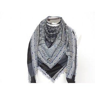 Sjaal dunks grijs-blauw met blauw Indy band