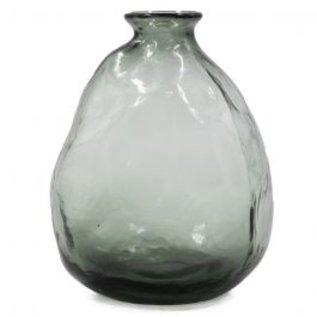 Vaas zwart glas bol vorm