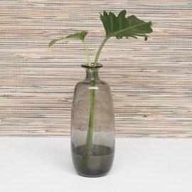 Vaas van gerecycled  glas grijs