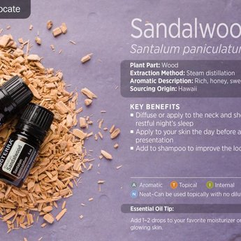doTERRA Essential Oils Hawaiian Sandalwood Essential Oil 5 ml.