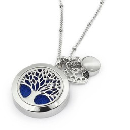AromaLove Tree of Life aromadiffuser necklace (silver)