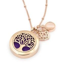 AromaLove Tree of Life aromadiffuser locket necklace (rose gold)