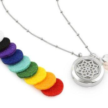 AromaLove Dromenvanger aromadiffuser ketting (zilver)