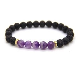 AromaLove Lava and Amethist diffuser bracelet