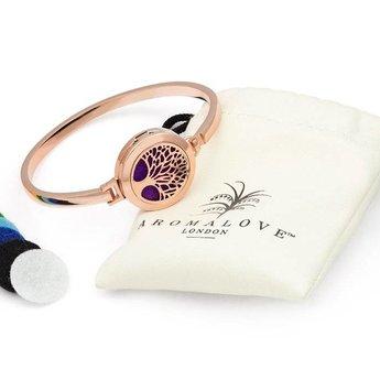 AromaLove Levensboom Aromadiffuser armband (rose goud)