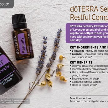 doTERRA Essential Oils Serenity Restful Complex Softgels
