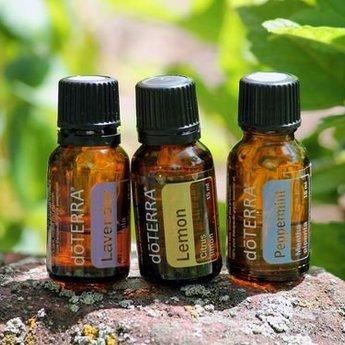 doTERRA Essential Oils Beginner's Trio - Lavendel, Citroen, Pepermunt
