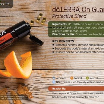 doTERRA Essential Oils On Guard beadlets + Peppermint capsules