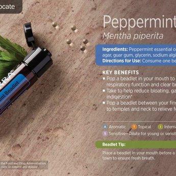 doTERRA Essential Oils Peppermint beadlets doTERRA