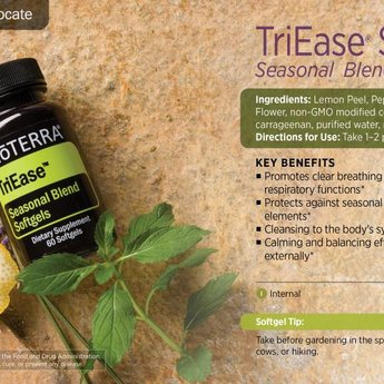 doTERRA Essential Oils TriEase Softgels - Seasonal Blend