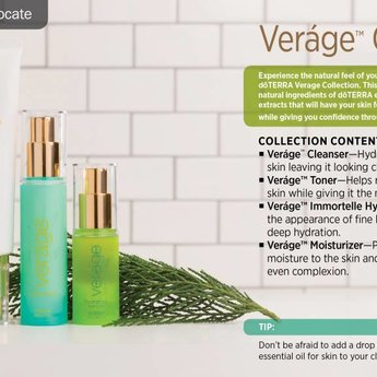 doTERRA Essential Oils Vérage Skin Care Collection