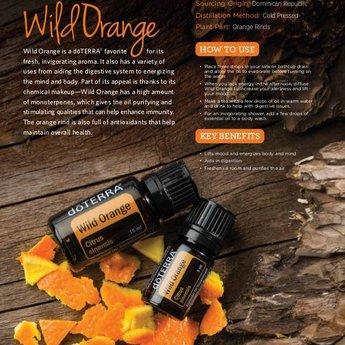 doTERRA Wild Orange Essentiële Olie 5 ml. probeerflesje (enkelvoudige olie)